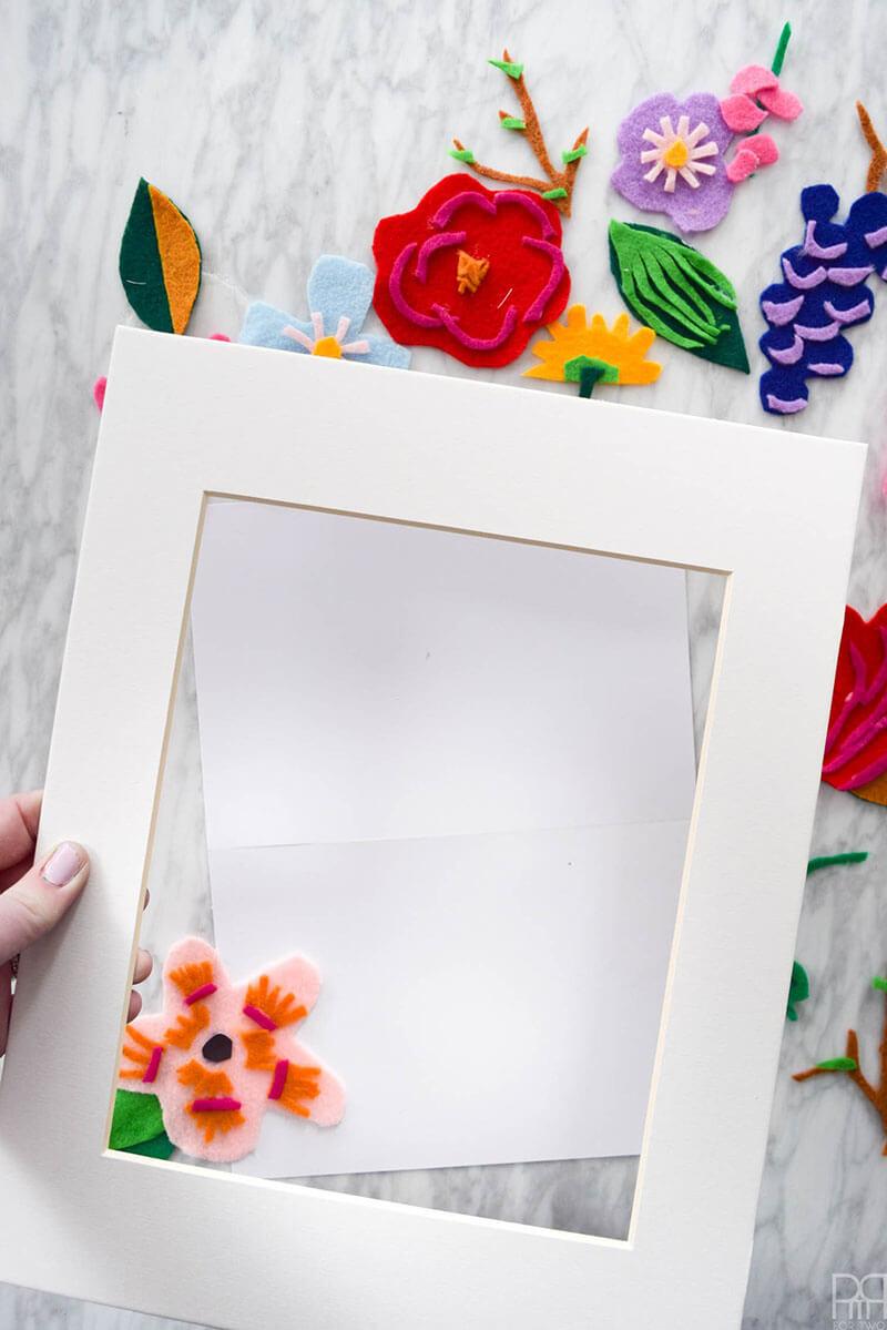 Картина из фетра своими руками. Картина из фетра Цветы
