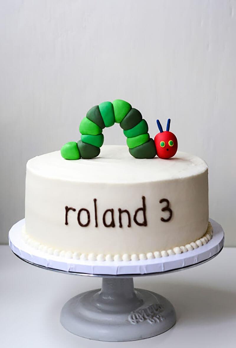 Детский торт на День Рождения: Торт Гусеница