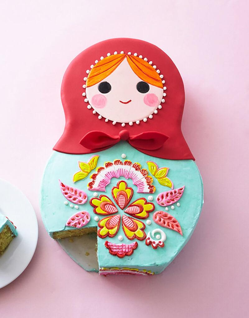Торт Матрешка своими руками. Как сделать торт в виде русской матрешки?