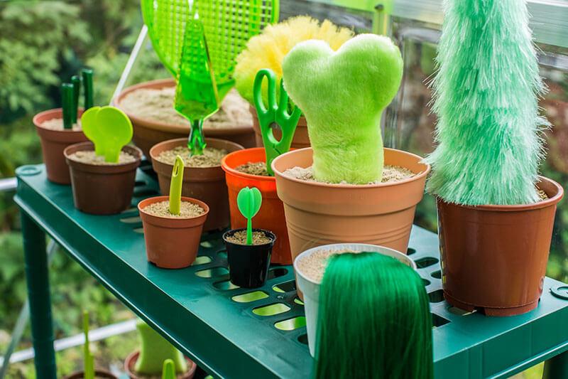 Пластиковые растения. Комнатные пластиковые растения своими руками