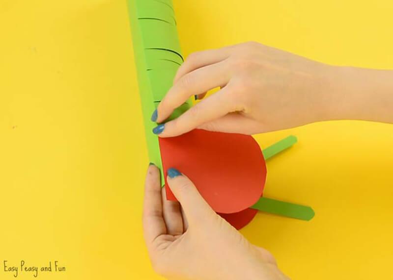 Гусеница из бумаги своими руками