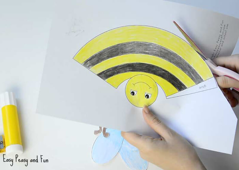 Бабочка и пчелка из бумаги своими руками