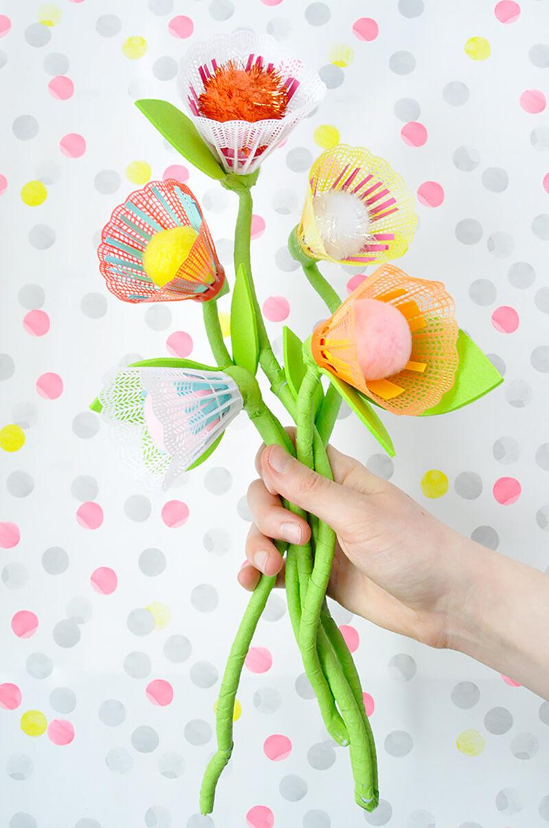 Цветы своими руками из воланчиков для бадминтона