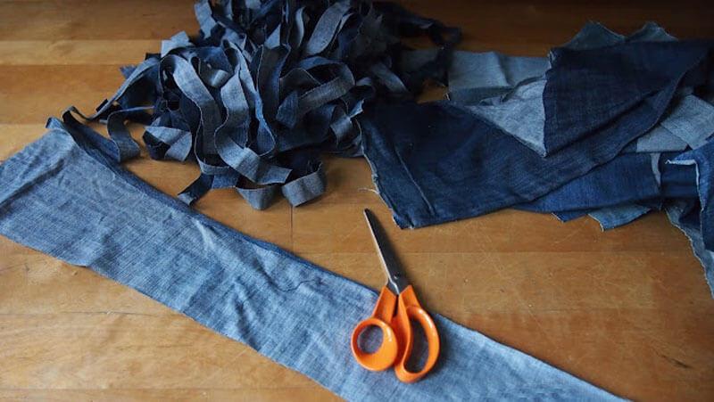 Коврик из джинсов. Джинсовый коврик своими руками