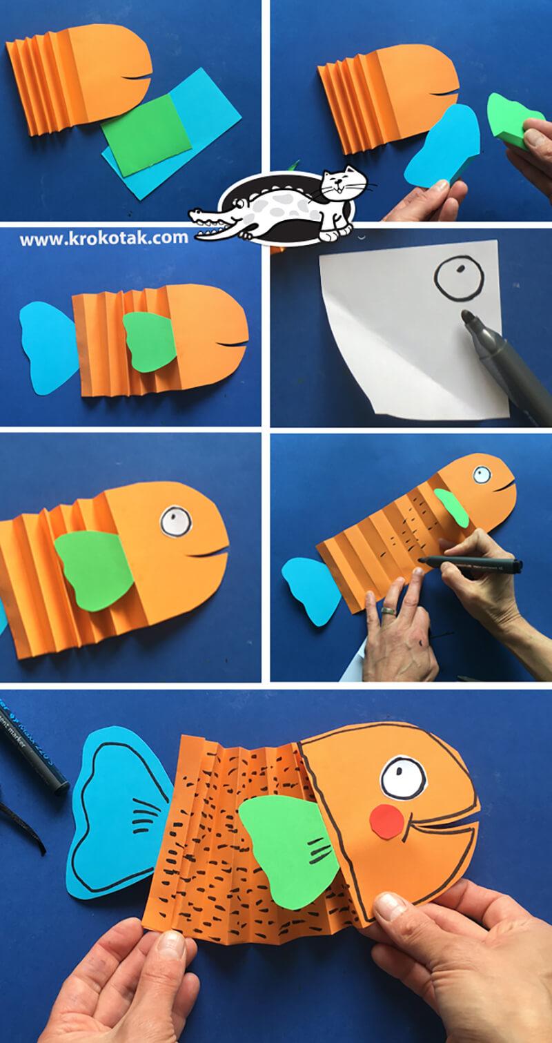 Рыбка из цветной бумаги своими руками фото 891