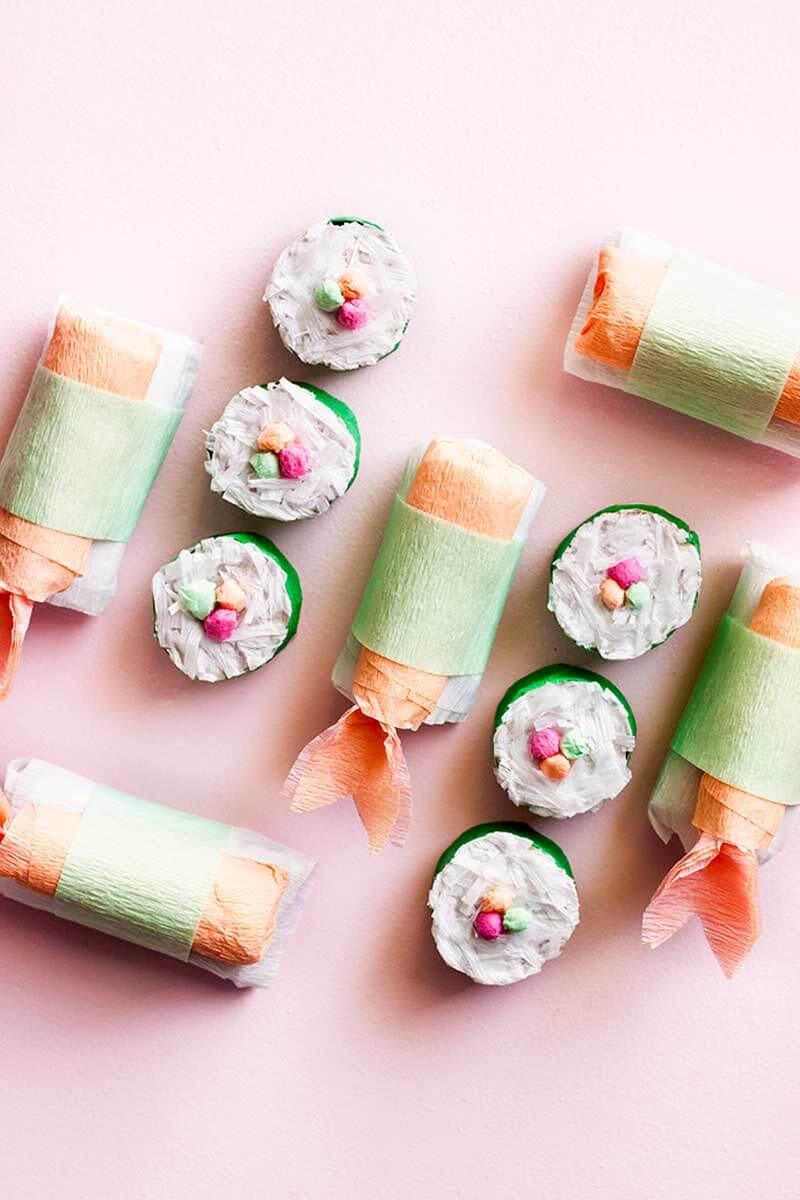 Суши из бумаги. Подарок любителю суши своими руками