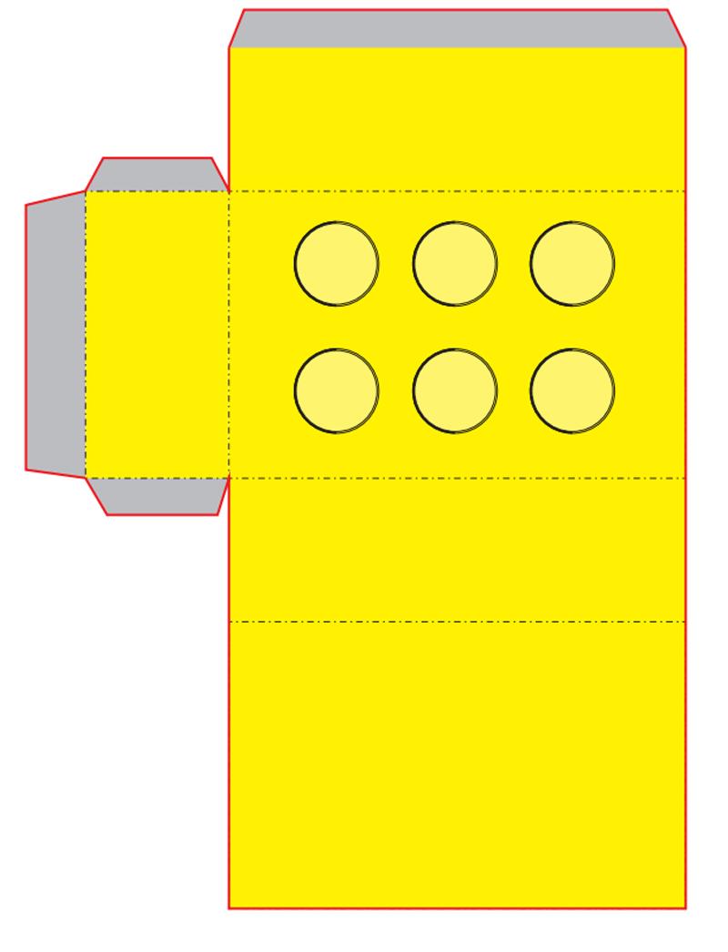 Пакеты для попкорна в виде Лего (Lego) своими руками