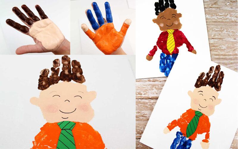 Открытка папе на день рождения своими руками от детей 3-4 лет