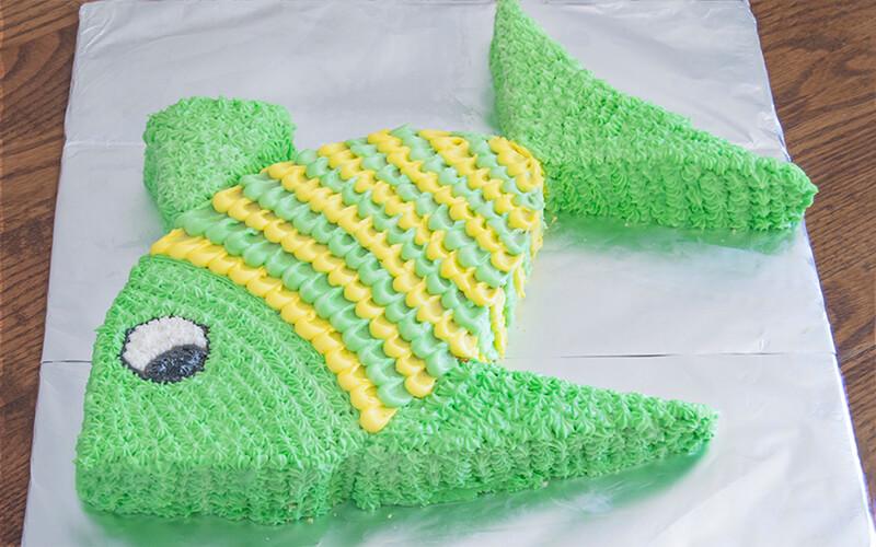 фото торт рыба из сливок оформления позволяет