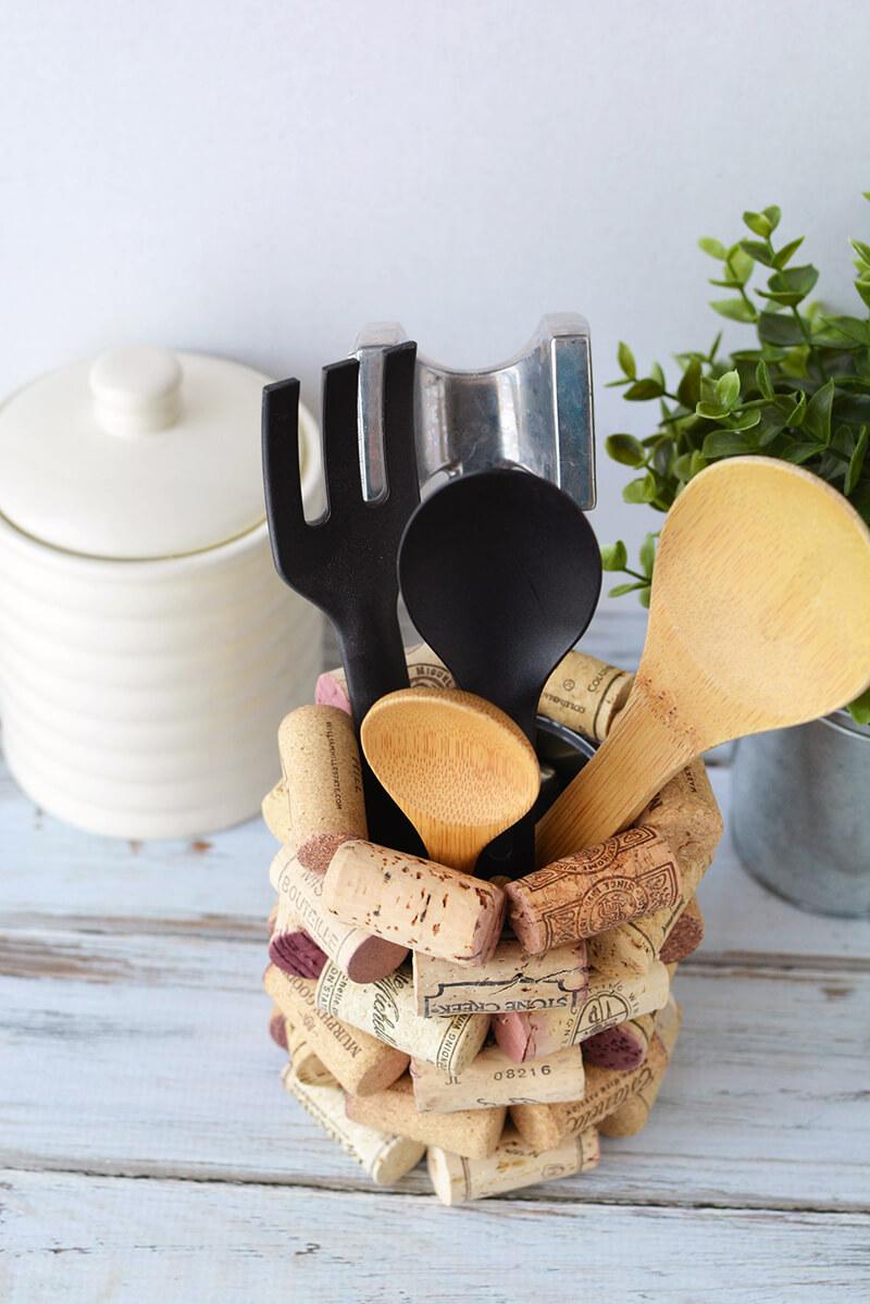 Банка-подставка для кухонных инструментов своими руками
