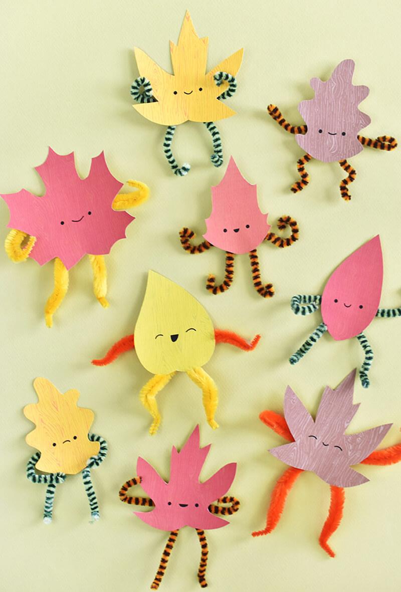 Детские поделки из листьев. Поделки из листьев для детского сада