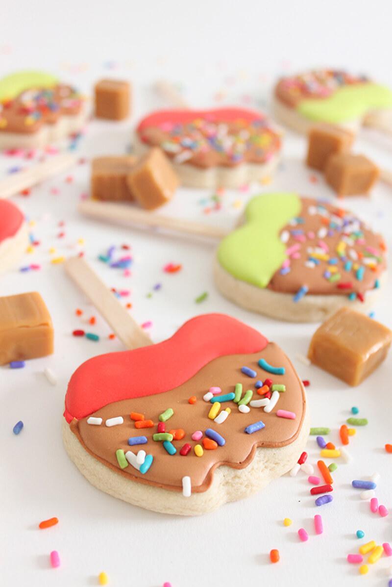 Как украсить печенье своими руками: печенье Яблочко
