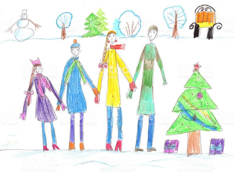 Зимние рисунки. Рисунок на тему Зима