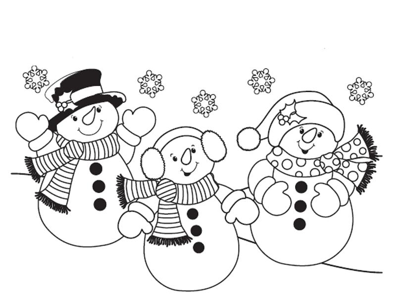 Картинки снеговиков черно-белые