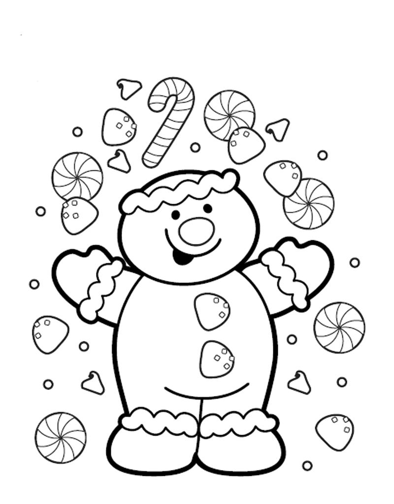 Новогодние раскраски и рождественские раскраски для детей