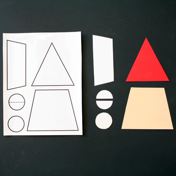 Поделка Дед Мороз своими руками из бумаги в детский сад и школу