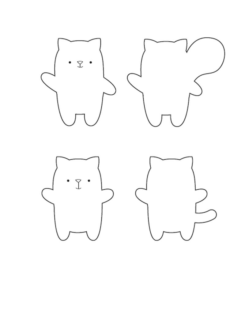 Животные из фетра своими руками (выкройки и шаблоны)