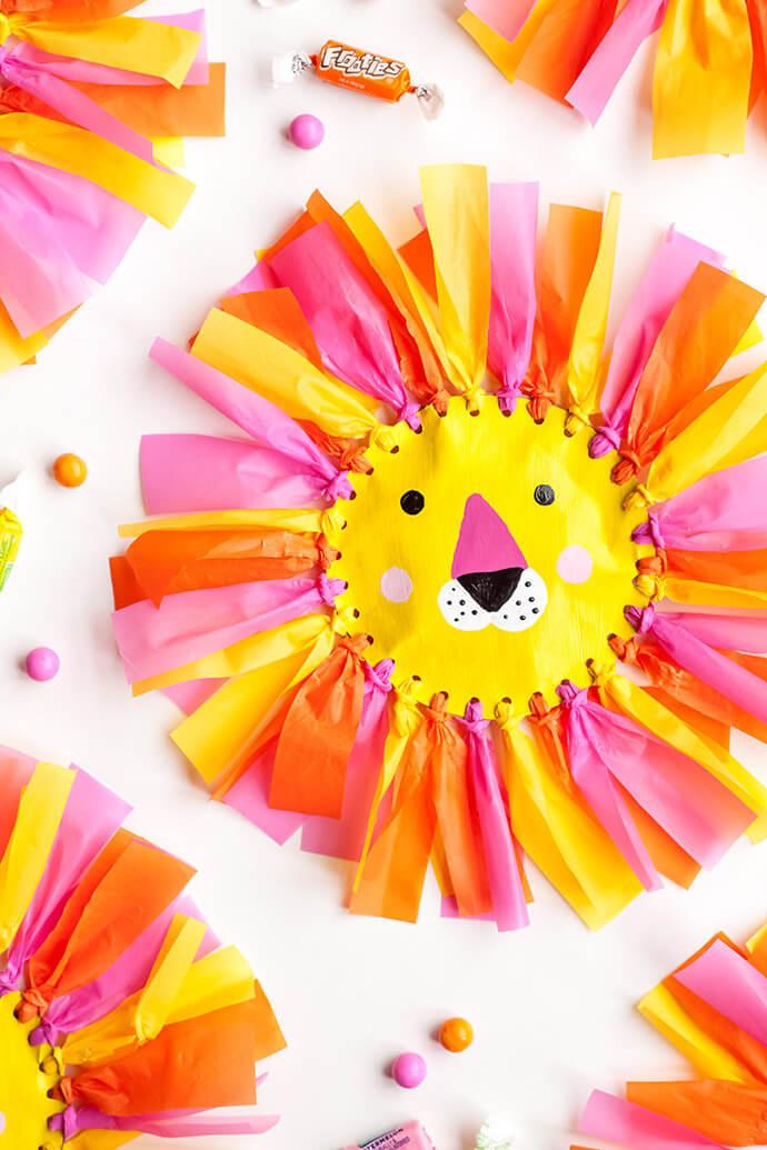 Поделка Лев своими руками. Упаковка для конфет в виде льва/львенка