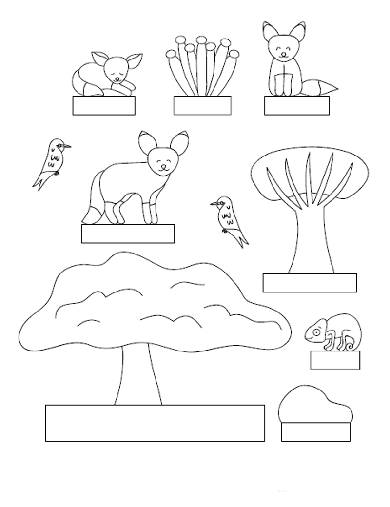 Диорама своими руками для детей. Диорама Пустыня