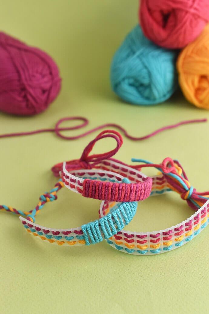 Как сделать браслет из ниток и сетки? Браслеты дружбы своими руками