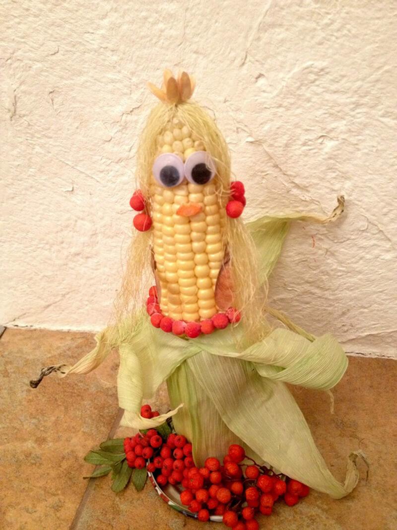 Поделки из кукурузы своими руками в детский сад и школу