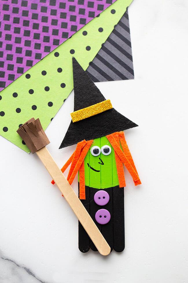 Поделки из палочек от мороженого своими руками на Хэллоуин