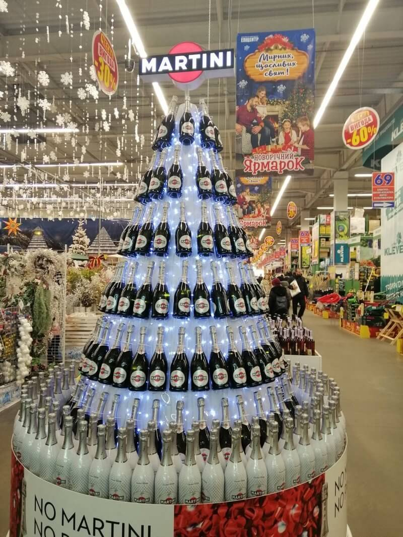 Как украсить продуктовый магазин на Новый год своими руками?