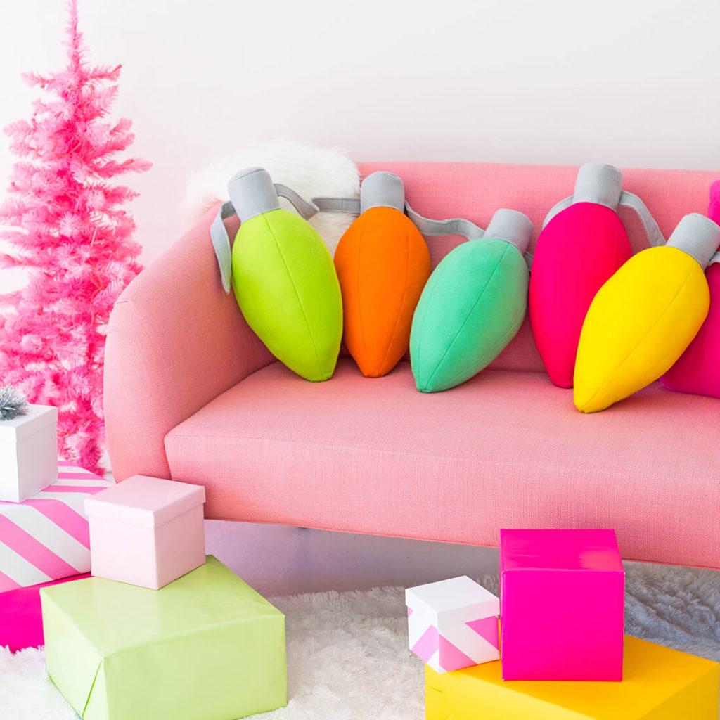 Новогодние подушки к Новому году своими руками