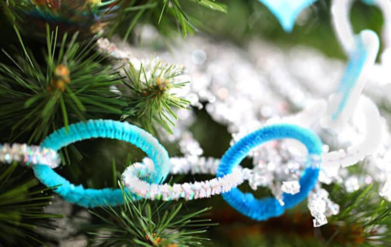 Новогодние поделки из проволоки (синельной проволоки) своими руками