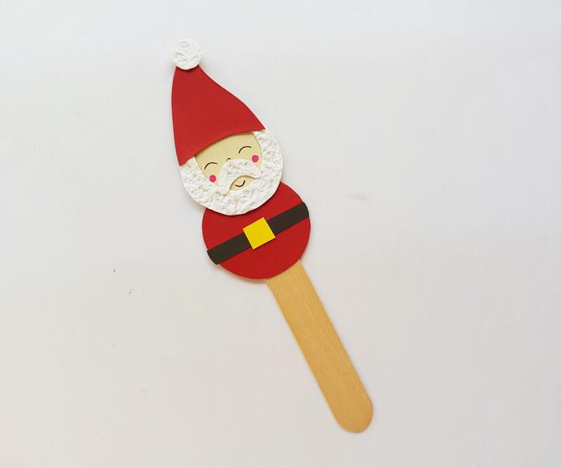 Поделка на Новый год в садик из палочек от мороженого