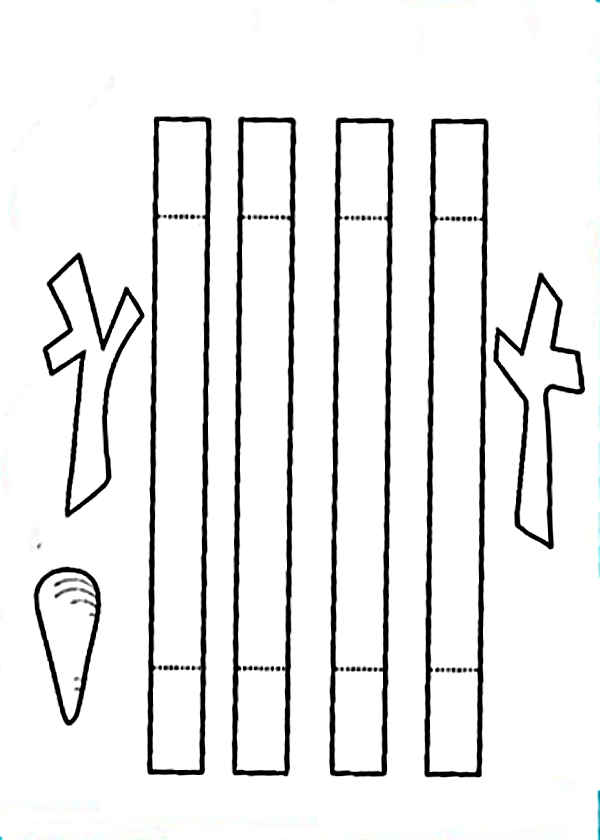 Объемная аппликация Снеговик из бумаги