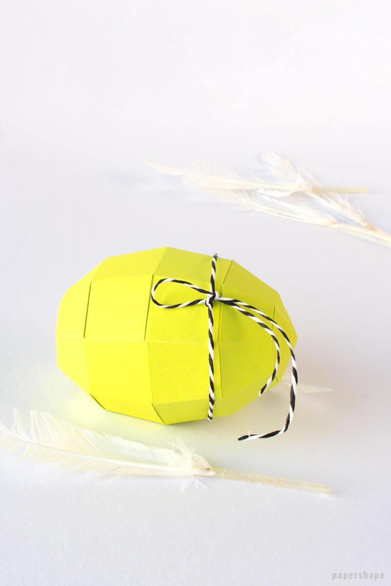 Как сделать пасхальное яйцо из бумаги?