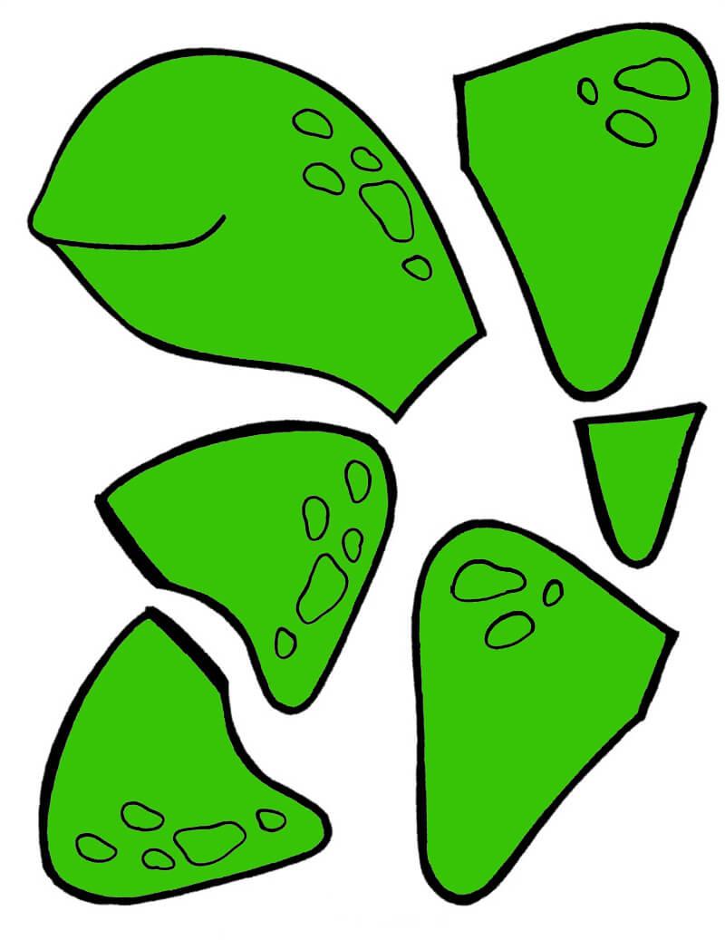 Аппликация Черепаха из бумаги для детей