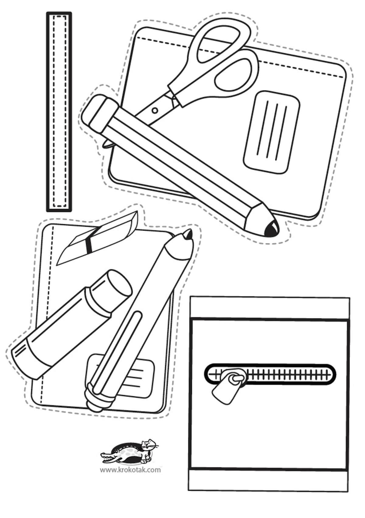 Поделка в школу Рюкзак из бумаги своими руками (шаблон)