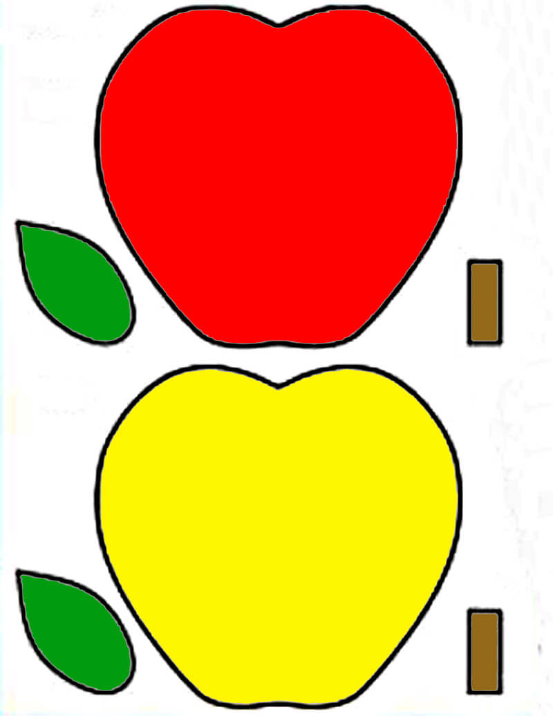 Аппликация Корзина с яблоками для детей своими руками