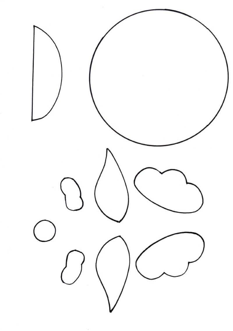 Аппликация ко Дню пожилого человека из бумаги