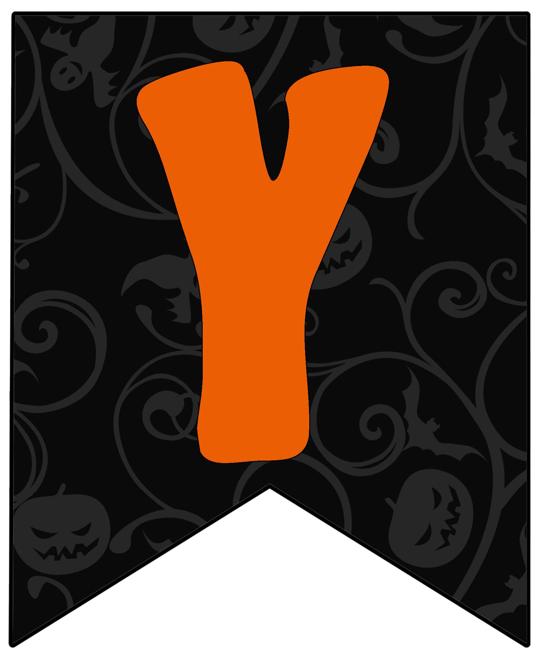 Гирлянда Хэллоуин по буквам распечатать бесплатно