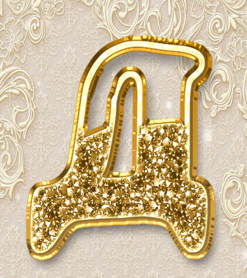Гирлянда Золотая Свадьба по буквам распечатать бесплатно