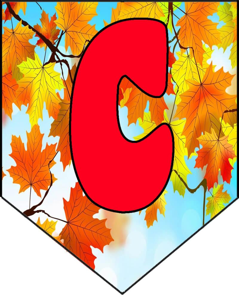 Растяжка/гирлянда Здравствуй, осень золотая распечатать