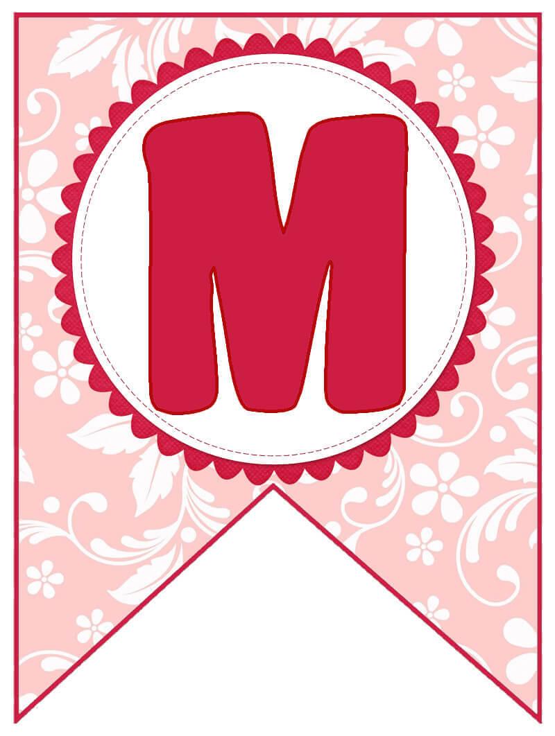 Растяжка с Днем Матери по буквам распечатать бесплатно